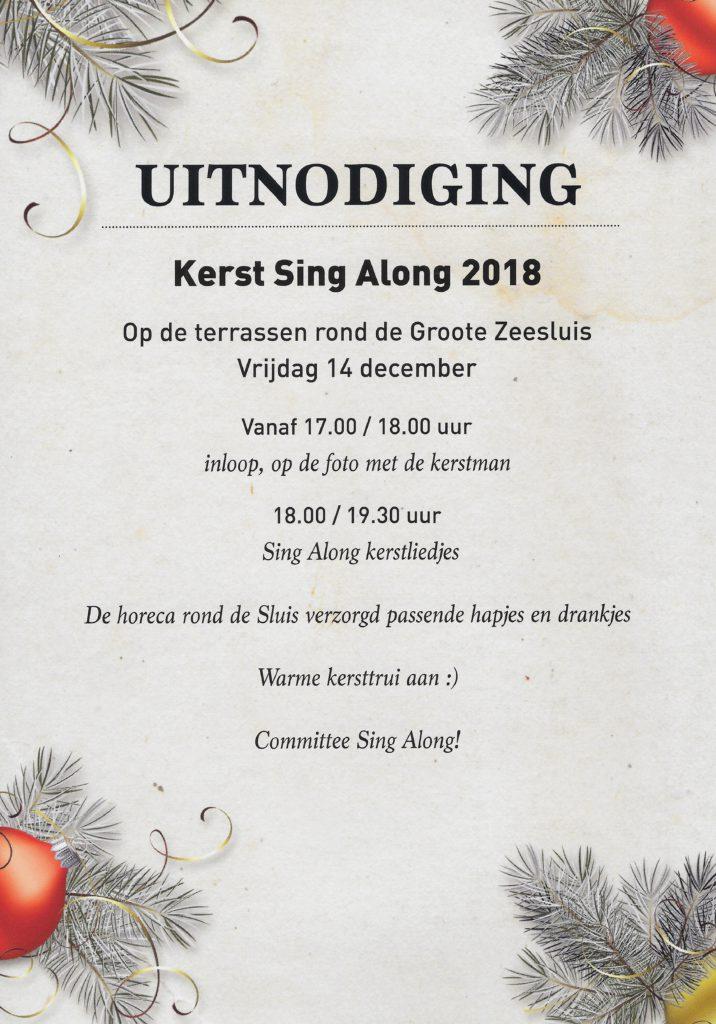 Warme Kersttrui.Kerst Sing Along Bij De Groote Zeesluis Brasserie Herengracht