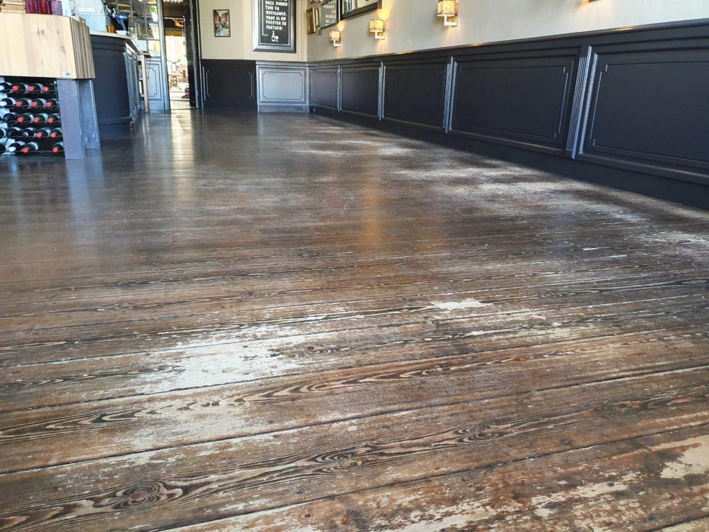 Oude vloeren Brasserie
